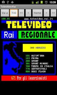 Televideo Rai- screenshot thumbnail