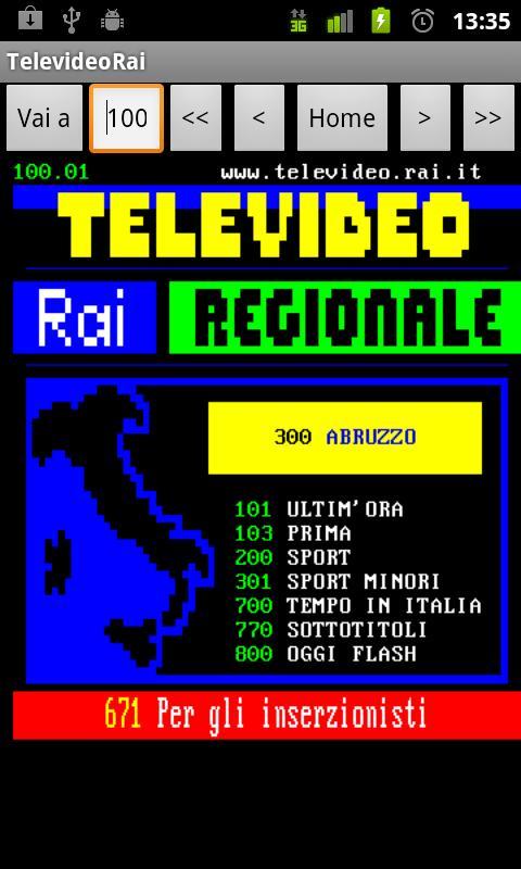 Televideo Rai- screenshot