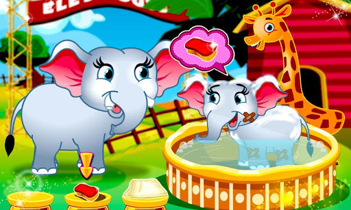 Cute Baby Elephant Care Game