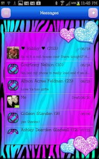 GO SMS THEME|HeartsCandyZebra4 - screenshot thumbnail