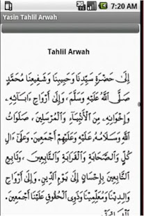 Kitab Tahlil Arwah Yasin - screenshot thumbnail