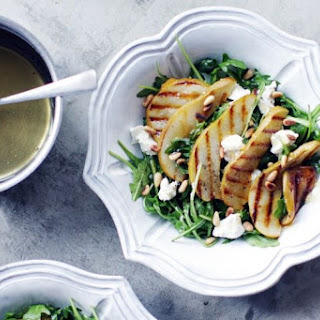 Grilled Pear Salad, With Arugula And Goat Cheese