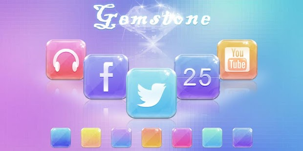 Gemstone GO Launcher Theme - screenshot thumbnail
