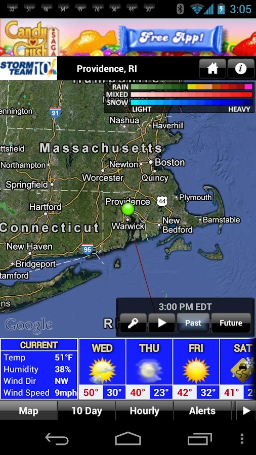 WJAR Radar - screenshot