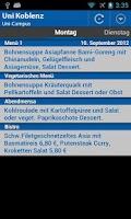 Screenshot of Mensa Koblenz