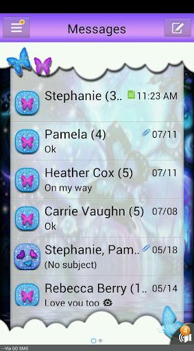 ButterflyFantasy1 GO SMS THEME