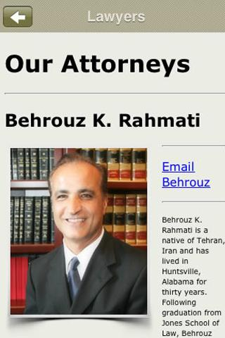 Rahmati Law Firm- screenshot
