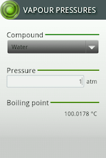 Vapour Pressures Android Tools