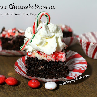 Candy Cane Cheesecake Brownies