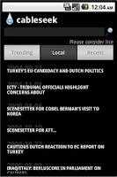 Screenshot of Cableseek - Wikileaks Search
