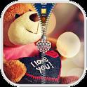Teddy Bear Zipper blocco icon