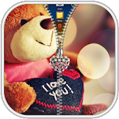 Teddy Bear Zipper Lock Screen - Ziplock