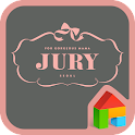 JURY GRAY LINE Launcher theme