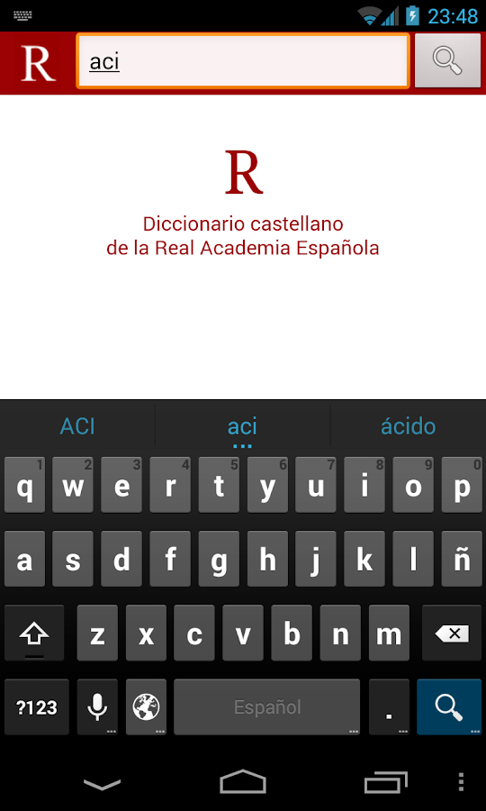RAE Dictionary - screenshot
