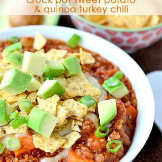 Crock Pot Sweet Potato and Quinoa Turkey Chili.