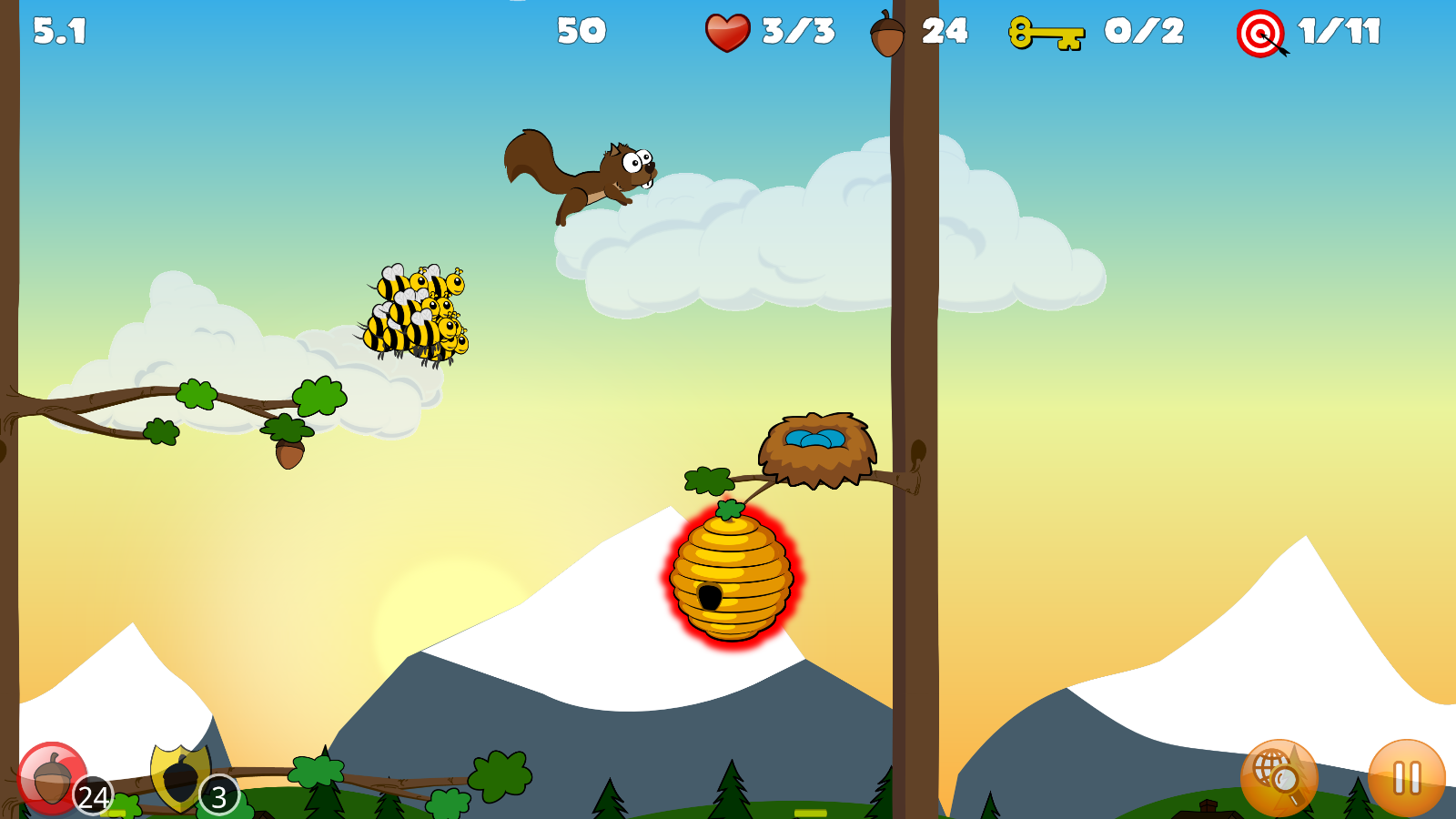 Buster's Squirrel Game Lite - screenshot