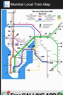 Mumbai Local train map - screenshot thumbnail