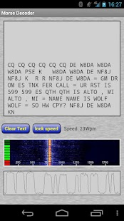 Morse Decoder for Ham Radio- screenshot thumbnail