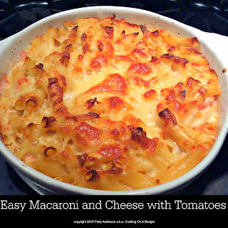 Easy Macaroni and Cheese with Tomatoes.