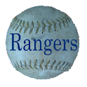 Simple Texas Rangers Schedule logo