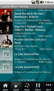 La Jolla Music Society - screenshot thumbnail