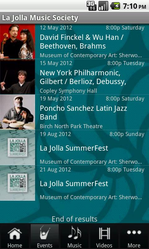 La Jolla Music Society - screenshot