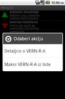 Screenshot of Burza.ZG