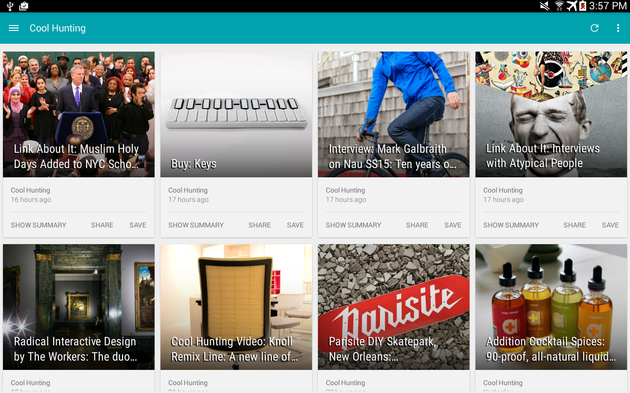 PaperBoy : A Feedly NewsReader - screenshot