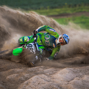Laying it Low by Kenton Knutson - Sports & Fitness Motorsports ( sand, roost, motocross, offroad, mx, dirt,  )