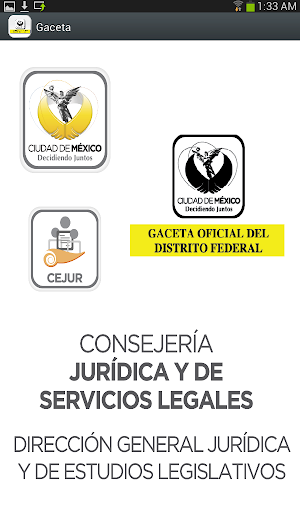 CEJUR - Gaceta Oficial GDF