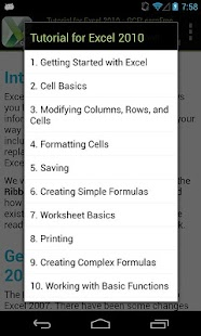 GCF Excel 2010 Tutorial- screenshot thumbnail