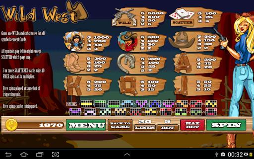 free slot machine wild west
