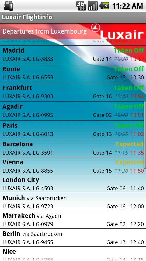 Luxair für Android - screenshot