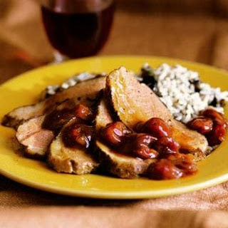Grilled Duck Breasts with Dried Cherry-Zinfandel Sauce.