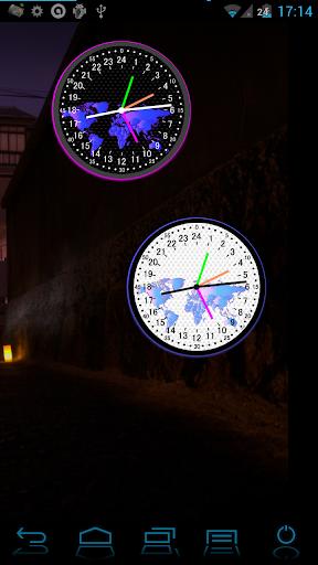 24時間アナログ世界時計