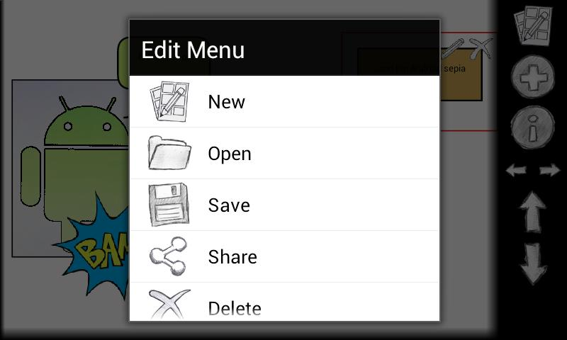 Comic Editor: captura de pantalla