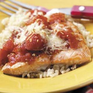 Tomato Salmon Bake.