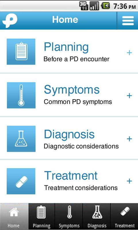 Parkinson's Toolkit- screenshot