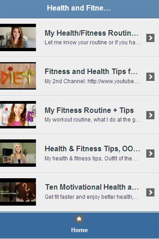 Health Fitness Tips Video