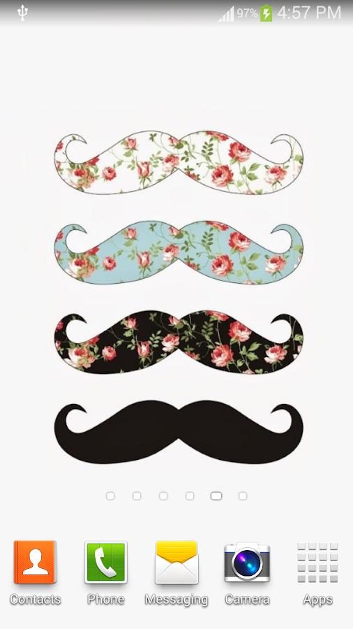 girly mustache background - photo #26