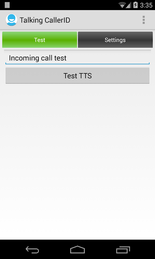 Talking Caller ID Calls & SMS - screenshot