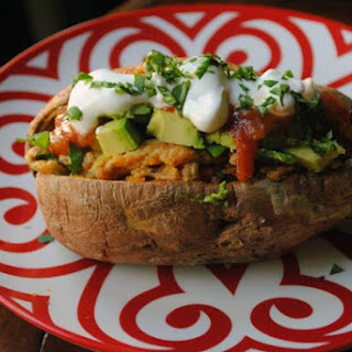 10-Minute Egg-Stuffed Sweet Potatoes With Avocado.