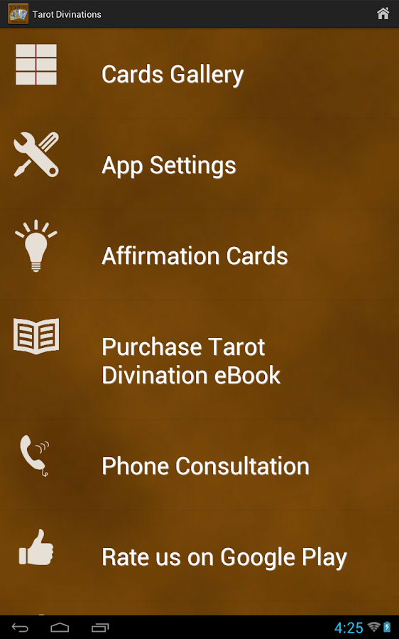 Tarot Divinations- screenshot