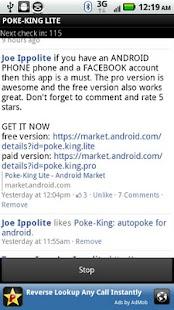 Poke King Lite for Facebook- screenshot thumbnail