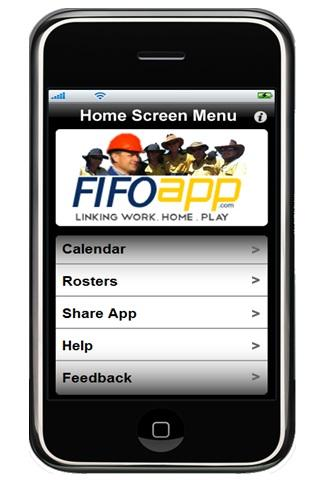 FIFO App Work Roster - screenshot