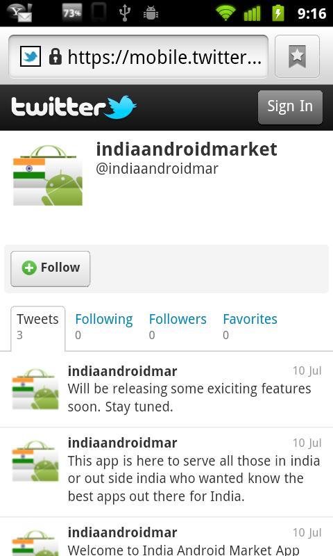 India Android Market - screenshot