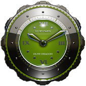 Dragon Clock widget olive