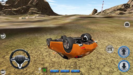 碰撞汽車駕駛模擬器的3D