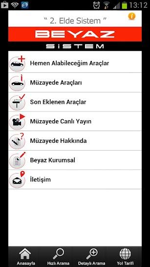 Beyaz Sistem screenshot for Android