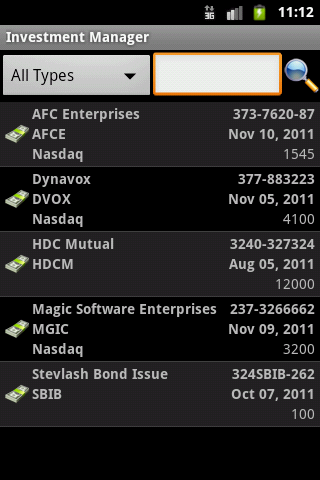 My Finance Manager- screenshot